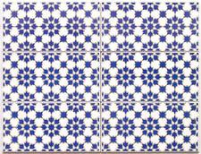 "Spanische Musterfliesen ""Jazmin Azul"" für Mosaik, 2te Wahl, ca. 42 x 56 cm"