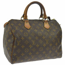 AUTHENTIC LOUIS VUITTON SPEEDY 30 HAND BAG MONOGRAM CANVAS LEATHER M41526 A43235