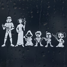 Star Wars Family Car Bumper Window Decal Vinyl Sticker