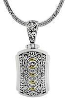 Devata Sweet Dragonfly Love Potion Sterling Silver 925 Necklace 18K Gold DBT5693
