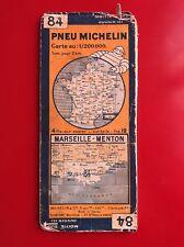 Carte michelin N°84 MARSEILLE -MENTON 1933/collector BIBENDUM vintage