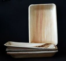 Palm Leaf Plates rectangle 24x16cm - Pack 25