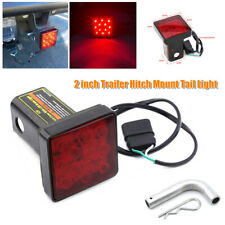 "2"" 12LED Tow Bar Lamp Trailer Hitch Mount Tail Light Hitch Pin w/Lock Universal"