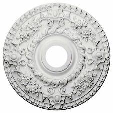 Ceiling Medallion For Chandelier Light Fixture Primed Hand Carved Lamp Cover New