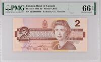CANADA 2 DOLLARS 1986 P 94 BONIN/THIESSEN GEM UNC PMG 66 EPQ