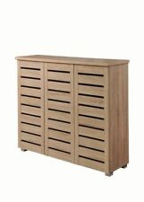 Shoe Storage Cabinet With 3 Doors in Sonoma Oak Contemporary Hallway Furniture