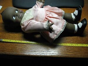 CAMEO BLACK  BABY  DOLL 16''   SQUEAK  TUMMY  1967    RUBBER   UNDAMAGED