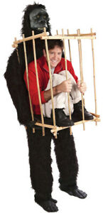 Get Me Outta This Cage Adult Costume Gorilla Funny Illusion Halloween