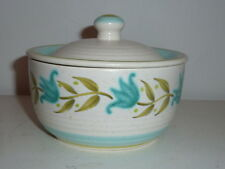 "Franciscan Earthenware Tulip Time 4-1/2"" SUGAR BOWL LID 1963-1973 Green Blue G7"