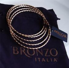 BRONZO ITALIA by MILOR ROSE GOLD PLATED BRONZE SET OF 5 BANGLE BRACELET NEW QVC