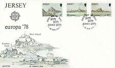JERSEY 1 mai 1978 Europa officiel 78 Premier Jour Housse Jersey SHS