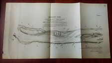 1892 Map Diagram of Mississippi River, Calico Island to Rush Tower