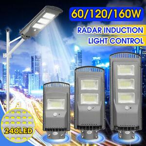 360LED Solar 60W/120W/160W Street Wall PIR Motion Sensor Outdoor Garden Lamp