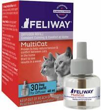 Feliway MultiCat FRIENDS 30 Day REFILL 48 ml Cat Feline Stress Behavior Relief
