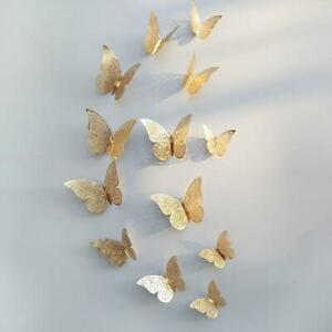 Butterfly Wall Stickers, 3D Metallic Art Decals Home Room Decorations Decor Kids