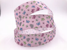 DIY 1-100 Yard 1'' 25MM butterfly Love Printed  Grosgrain Ribbon Hair Bow Crafts