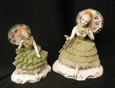 DRESDEN LACE FIGURINES...SET/2....EXCELLENT CONDITION.  NO CHIPS