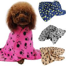 60*70CM Cozy Pet Paw Print Pet Cat Dog Fleece Soft Blanket Beds Mat Cover.