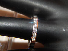 .24tcw Diamond  Wedding Band 14k White Gold colorless F/SI eye clean Engagement