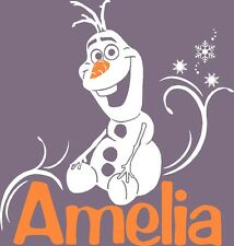 Frozen 's Olaf - Vinyl Wall Decal Nursery- Personalized Name Disney Art