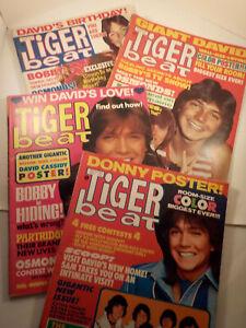 "FOUR original 1971-vintage (Laufer Co.) Teen ""TIGER BEAT Magazines"" 4-pc. LOT!"