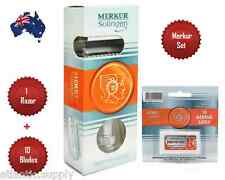 MERKUR 34C HD DOUBLE EDGE SAFETY RAZOR  + MERKUR BLADES -  AUS SELLER