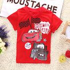 Cartoon Cars Bébé Enfants Manches Courtes Garçon Hauts Été T-shirt T-shirts