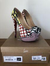 Christian Louboutin Daffodil Loubi Print Heels Size 37 *RARE!!!* RRP £635
