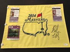 Bubba Watson Signed Authentic 2014 Masters Flag & Badge, Both JSA!