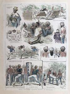 1886 Antique Print; Royal Artillery Athletic Sports at Hong Kong.  The Graphic