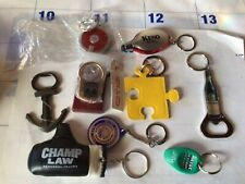 Lot key chains And Can Openers