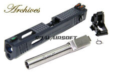 Archives WEI-E CNC Aluminum Custom Toy Slide For WE Marui G18C GBB Silver Barrel