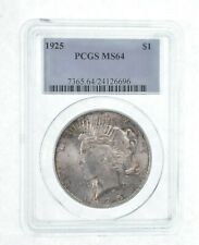 MS64 GRADED - 1925 Peace Silver Dollar- PCGS *546