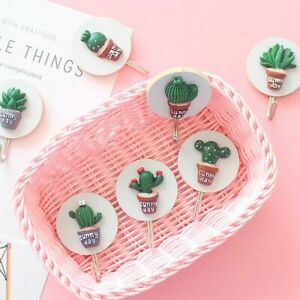 Cute Cartoon Cactus Sticky Hooks Key Hangers Wall Home Decoration Accessories
