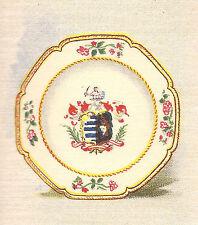 Vintage tobacco cigarette silk card -Salmon & Cluckstein- Chinese Plate rose