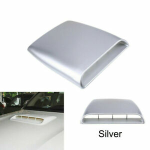 Universal Silver Car Decorate Air Flow Intake Hood Scoop Vent Bonnet Cover SMALL