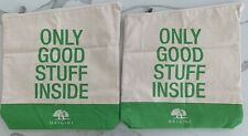 ORIGINS beige green makeup bag cosmetic toiletry travel pouch case X LOT 2 NEW