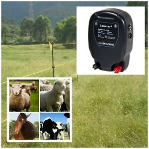 20km Electric Fence Solar Power Energy Controller Animal Farm & Livestock