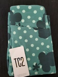 LuLaRoe TC2 Disney Minnie Mouse Green Polka Dot Leggings- New!