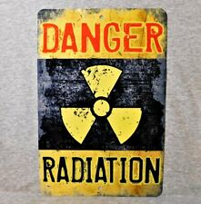 Metal Sign Radiation danger warning radioactivity hazard decay caution medical