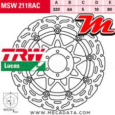 Disque de frein Avant TRW MSW 211 RAC Aprilia RSV 1000 Touno R Factory (RR) 2009