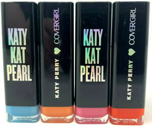 (4) Covergirl Katy Kat Pearl Lipstick Sealed Full Set Unique Colors No Repeats