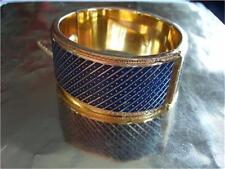 Vintage Whiting & Davis Blue Mesh Bags Bracelet