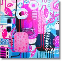 Abstrakte Formen Moderne Kunst Bild Wandbild Unikat Acryl Art. Nr 674