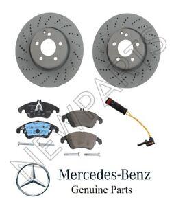 For Mercedes C300 C350 E250 E400 Front Complete Brake Kit Rotors & Pads Genuine