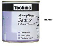 PEINTURE ACRYLIQUE TECHNIC SATIN 0.5 L BLANC lessivable sans odeur