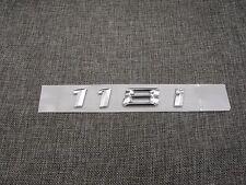 Chrome Trunk Number Letters Emblem Emblems Badge Badges Sticker for BMW 118i