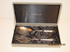 TOWLE Salad Serving Fork & Spoon Set /Silver Plated in Presentation Box-FRE SHIP