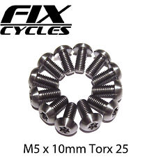 12 x Disc Rotor Bolts Titanium  - M5 x 10mm