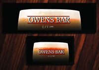 PERSONALISED BEER MAT LABEL BAR RUNNER IDEAL HOME PUB OCCASION